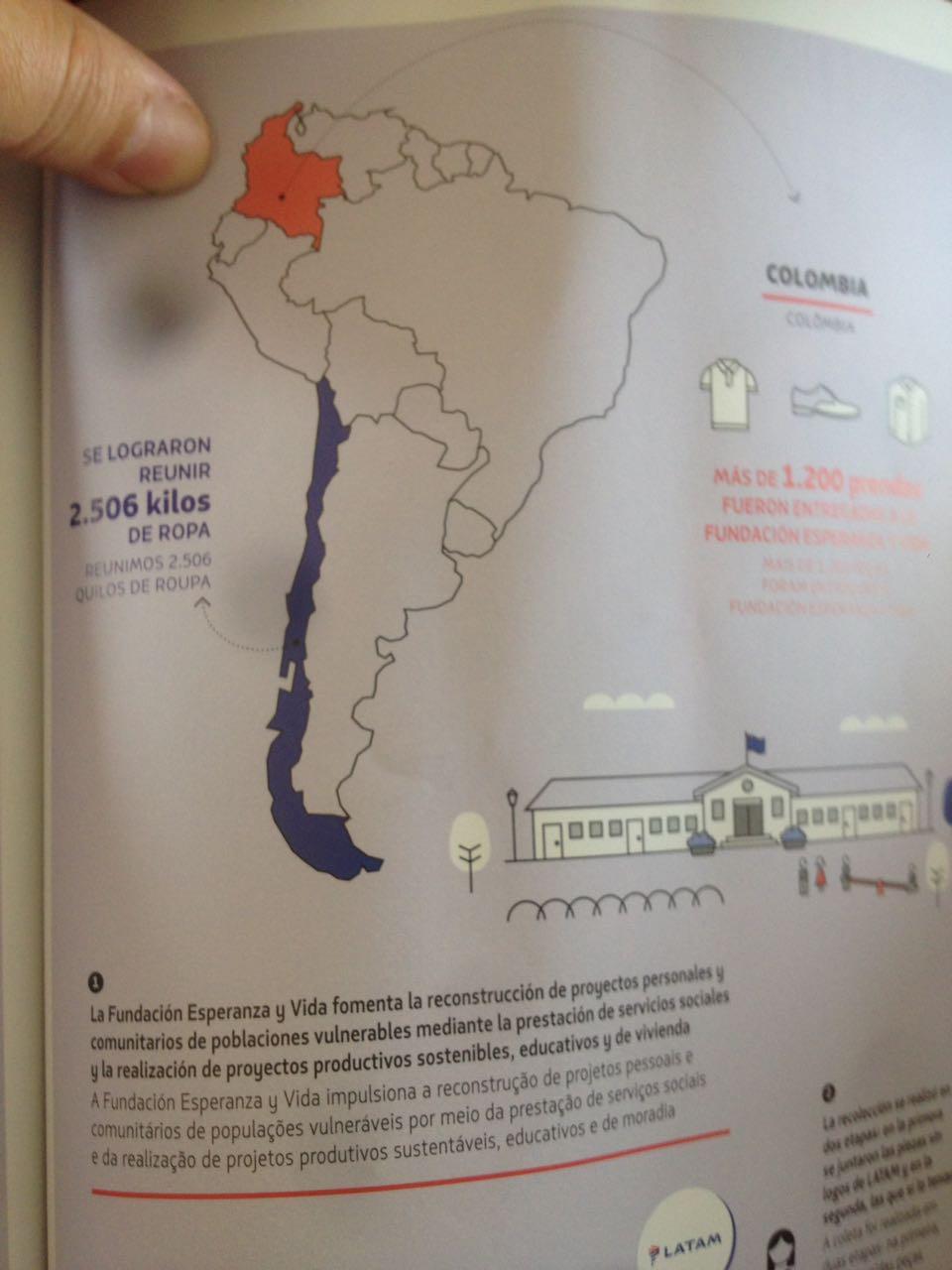 Urquiza y Villegas expresaron su preocupación por una imagen cartográfica de la Provincia en la Revista Vamos de LATAM
