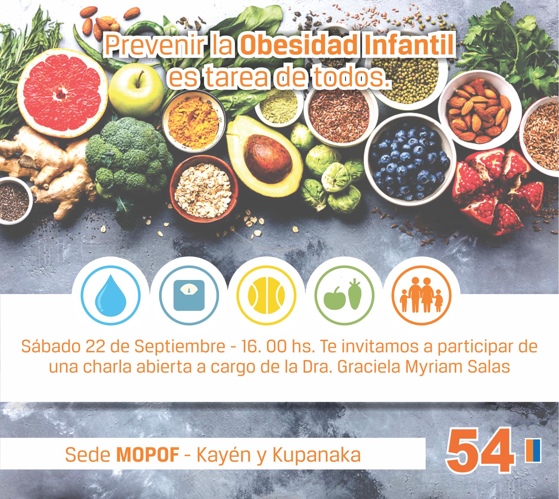 El  Movimiento Popular Fueguino organiza una charla sobre la Prevencion de la Obesidad Infantil