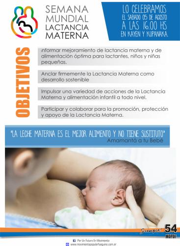 20 LACTANCIA semana mundial de la lactancia materna
